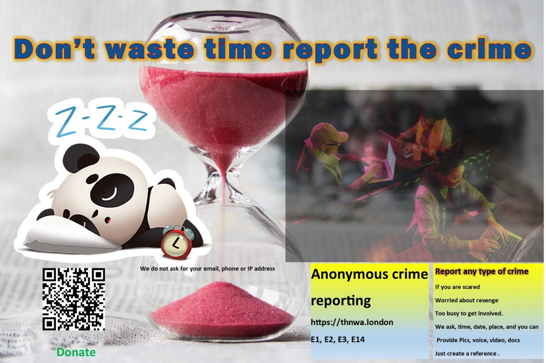 Don't waste time, report thecrime