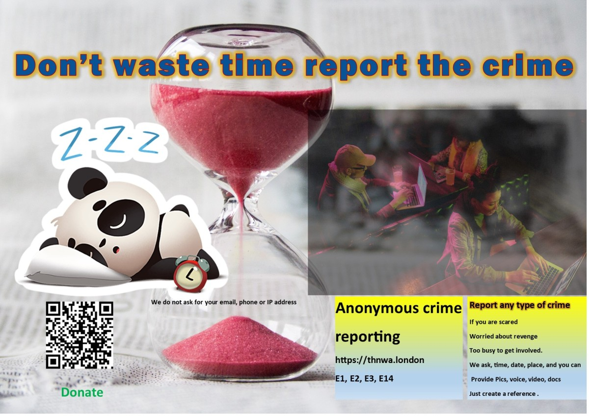 Don't waste time, report the crime